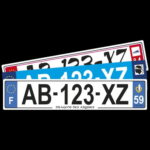 plaque auto 52x11 cm taille standard ref p 52x11 h 0 09
