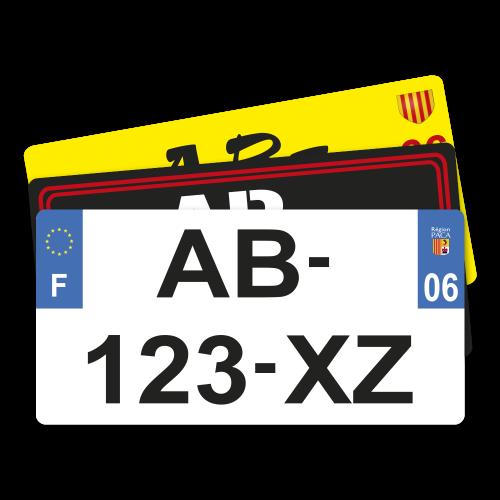 MNUT Plaque dimmatriculation de Voiture avec Drapeau de lukraine 15,2 x 30,5 cm